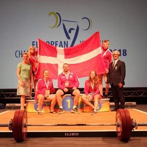 Positivt EM for dansk ungdomsvægtløftning!